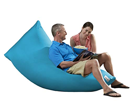 Yogibo Zoola Max Outdoor Bean Bag Chair, Oversized Beanbag Couch, Water Resistant, Cozy Patio Deck Lounge Furniture, Sky