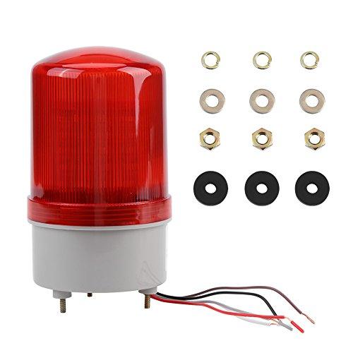 1Pc AC220V Rojo LED de Advertencia de Emergencia Lámpara de Iluminación Giratoria