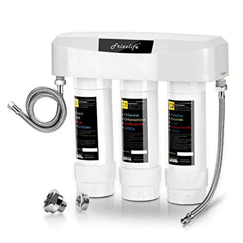 Frizzlife Under Sink Water Filter System SK99, 3-Stage 0.5...