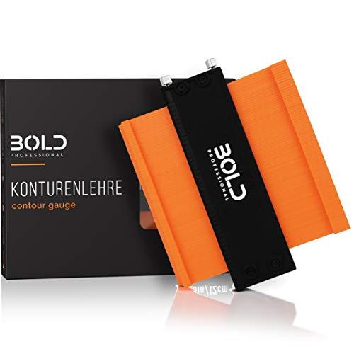 BOLD Professional® - Konturenlehre mit Feststeller 12cm - überarbeitetes Modell 2021 - Einfachste Bedienung - Präzises Übertragen von Formen