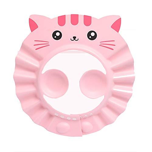 DEWUFAFA 1 PCS Baby Shower Cap Shampooing Cap Réglable Douche Safe Étanche Visor Souple Chapeau for Enfant en Bas Âge, Bébé, Enfants (Bleu, Rose, Jaune) (Color : Pink)