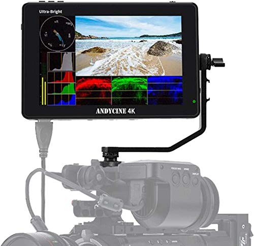 "ANDYCINE C7 Field Camera Monitor 7"" 2200nits 1920x1200 Touch Screen 4K HDMI in/Out DSLR Camera Monitor with Wave Form/Vector scope/3D-Lut/Compatible for Sony,Canon,Fujifilm,Panasonic,BMPCC Cameras"
