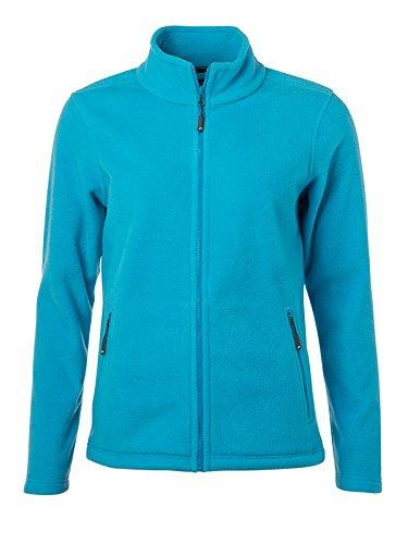 James & Nicholson Damen Fleece Jacke, Türkis (Turquoise), 36 (Herstellergröße: M)