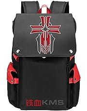 WANHONGYUE Azur Lane Juego Cosplay Backpack Rucksack Mochilas Escolar Bolsa de Escuela Mochila para Portátil 15.6 Pulgadas
