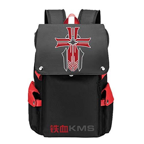 WANHONGYUE Azur Lane Game Cosplay Unisex 15.6 Inch Laptop Backpack School Bag Rucksack for Travel/College/School/Work/Red / 4