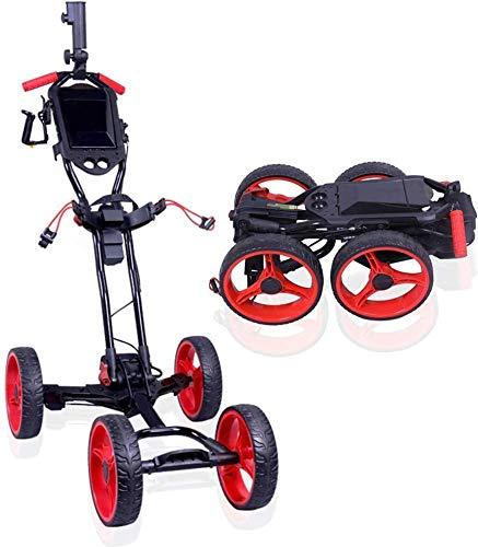 RSTJ-Sjef Golf Cart Elektro-Vierrad-Fahrer Handwagen mit Einknopf Expansion und Klappfunktion Golfcart