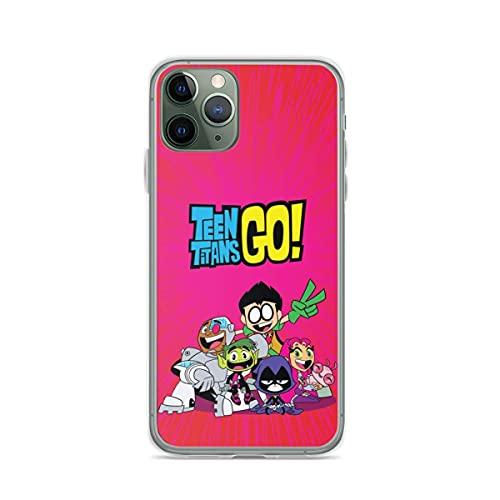 YICHIBAOEL Fundas para teléfono Pure Clear compatibles con iPhone 12/11 Pro MAX 12 Mini SE X/XS MAX XR 8 7 6 10s Plus Case-Teen Titans Go
