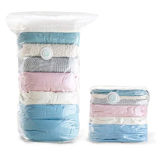 衣類圧縮袋 真空収納バッグ 真空圧縮バッグ ポンプ不要 省スペース 布団収納袋 引越し用 防塵防湿 防虫防カビ  密封袋 衣類 枕 毛布用 出張用 旅行用品