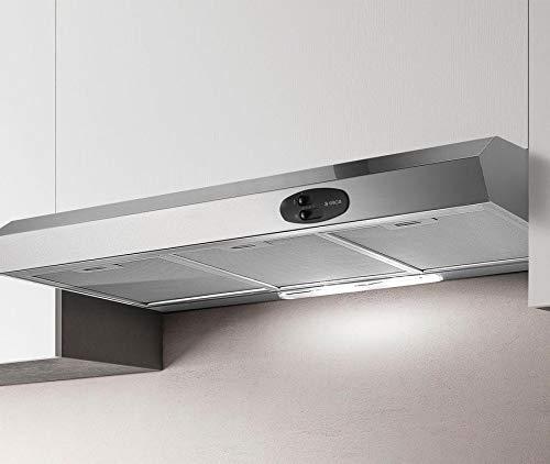 Cappa per cucina filtrante, Installazione Sottopensile, da 90 cm, Nero KREA GFA BL/F/90