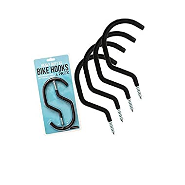 Impresa Products Bike Hanger/Bike Hook (Pack of 4) - Heavy-Duty, Fits All Bike Types, Wide Opening Easy On/Off