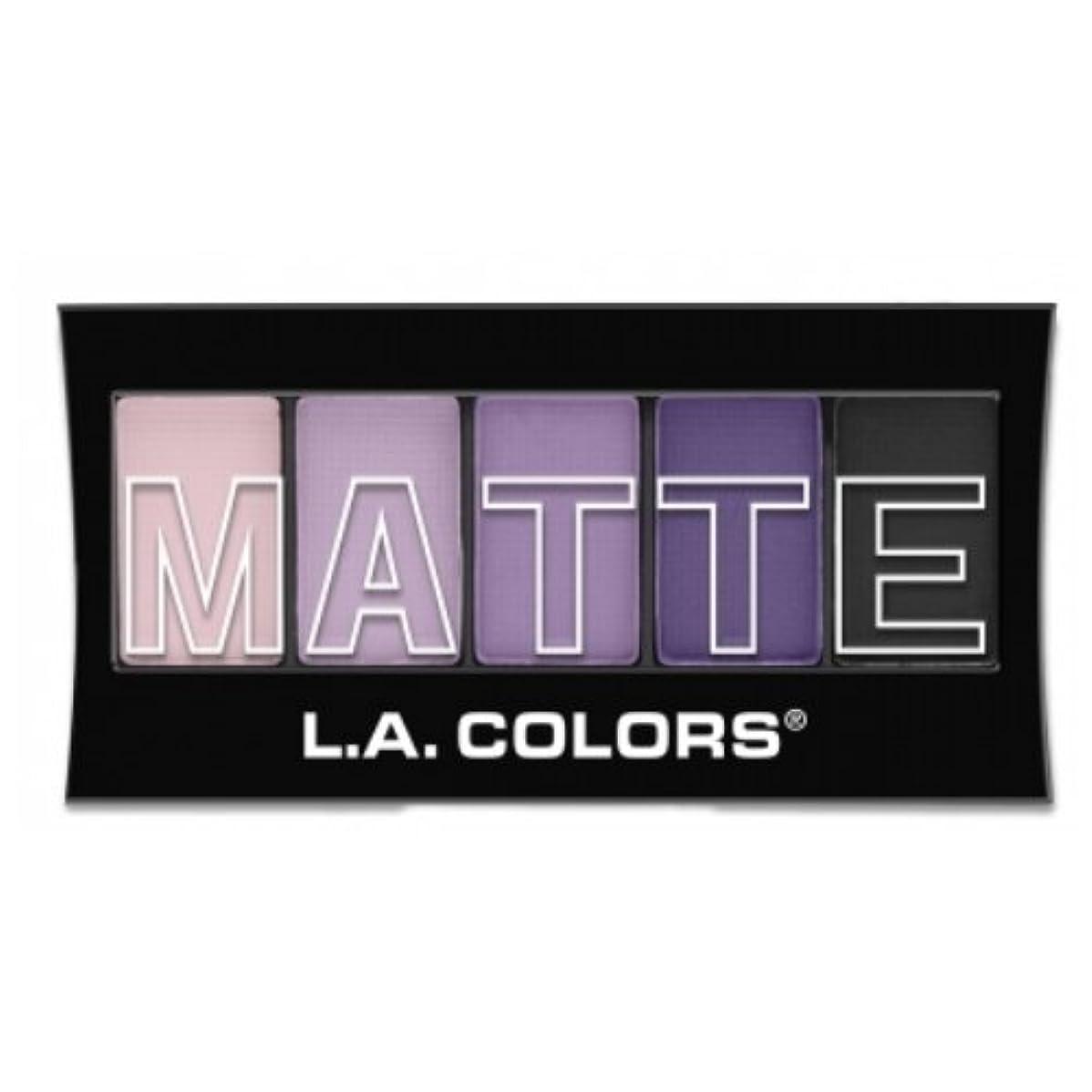 トラブルモノグラフ縫い目(3 Pack) L.A. Colors Matte Eyeshadow - Purple Cashmere (並行輸入品)