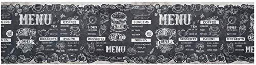 PERLARARA - Tappeto Cucina 2 Metri, Passatoia Cucina Antiscivolo Lavabile 52x200 cm Tappeto a Metraggio in PVC, Tappeto Cucina Antiscivolo Lavabile |Passatoia Cucina - Menù 192