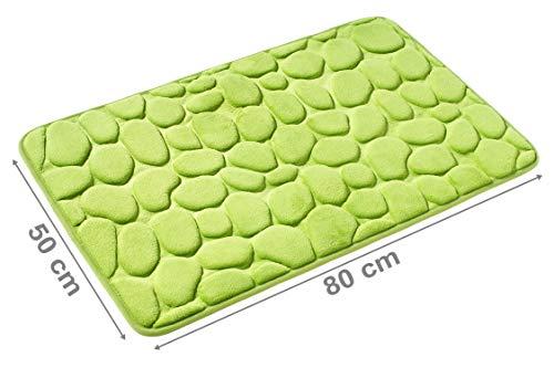PANA Memoryschaum Badematte in versch. Farben | Badteppich aus weichen Mikrofasern - rutschfest & waschbar | Duschvorleger 50 x 80 cm