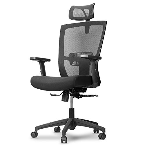 mfavour Ergonomic Office Chair Ergonomic Desk Chair with Lumbar Support Backrest and Armrest Mesh Office Chair with Wheels High Back Ergonomic Chair for Home Office