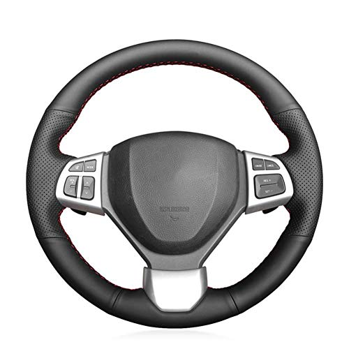 MDHANBK Funda para volante de coche cosida a mano, para Suzuki Swift 2011-2017 Swift Sport 2011-2017 Vitara S 2015-2019