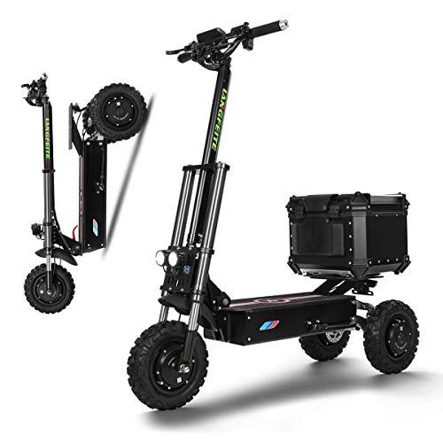 Scooter eléctrico de 3000 W de Alta Potencia, Tres turnos, Plegable para Adultos/Ancianos, Scooter Inteligente de Ocio con Patinete Recargable de Largo Alcance de 65-80 km, Velocidad máxima de 80 k