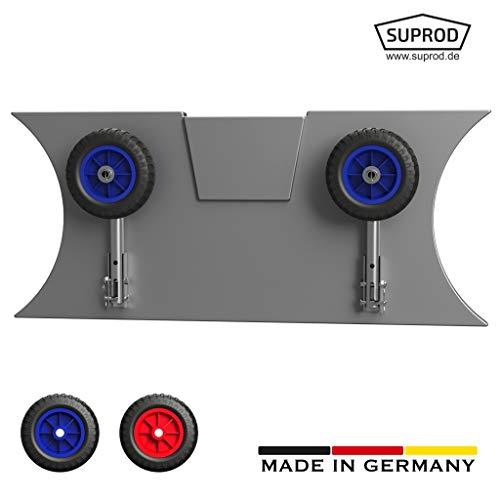 SUPROD Slipräder, Heckräder, für KLEINE Schlauchboote, LD160, Edelstahl, schwarz/blau