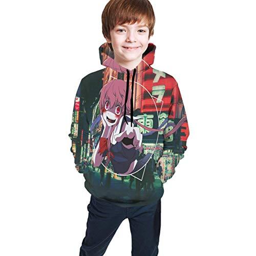 huatongxin Fu-Ture Tagebuch Jugend Hoodie 3D gedruckt Pullover Langarm Sweatshirt für Teenager Jungen Mädchen