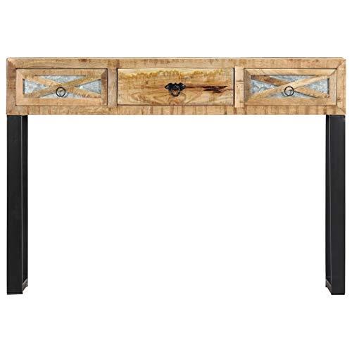 Festnight Table Console Table d'appoint 110 x 30 x 76 cm Bois de manguier Massif
