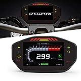 KKmoon Odómetro Moto,LCD Digital Velocímetro Medidor de Combustible Motocicleta 14000RPM Universal para Cilindros 1,2,4,