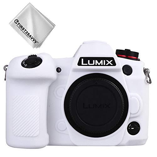 FIRST2SAVVV 白 パナソニック Panasonic Lumix G9 専用 TPUシリコンカメラバッグ カメラケース XJP-Lumix G9-GJ-M05G11