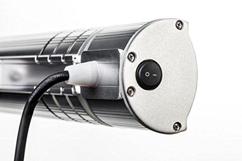 HeizMaster – 2000 IP 65 RC inkl. Fernbedienung mit Dimmfunktion Infralogic Kurzwellen – Heizstrahler für Indoor und Outdoor geeignet, silber - 3