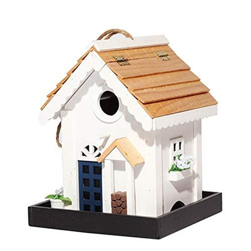 Wangxiaoxia-Home Nistkästen Kreative Retro Englisch Hofgarten Cottages Vogelhaus Holz Vogelhäuschen for Kleine Vogelhäuschen Vogelhaus Kirchturm Im Freien Hängende...
