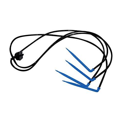 Extremo del conector para el riego Manguera de jar 4 Flecha curvada Gotero Kits de Agricultura de riego riego por goteo guarniciones 4L / 8L Presión Gotero Jardín Accesorios 20 Conjuntos
