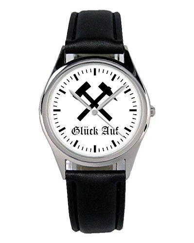 Geschenk für Bergbau Kumpel Bergmann Ruhrpott Uhr B-1420