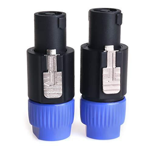 NANYI NL4FC Speakon Kabel Verstärker Stecker, Audio Lautsprecher Stecker Twist Lock 4 Pole Lautsprecher Stecker Kompatibel mit Neutrik Speakon NL4FC, NL4FX, NLT4X, NL2FC - 2 Pack