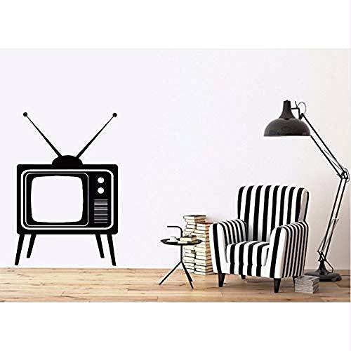 Jhping Sticker Wandbild Afneembare Muursticker Tv Apparaat met Antennes Vinyl Decal DIY Muurstickers Huisdecoratie Woonkamer Muurschildering Wallpaper28X43 cm