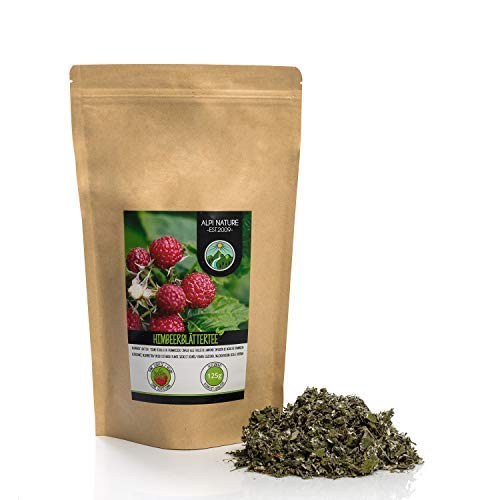 Himbeerblättertee (125g), Himbeerblätter geschnitten, schonend getrocknet, 100% rein und naturbelassen zur Zubereitung von Tee, Kräutertee, Himbeerblätter Tee
