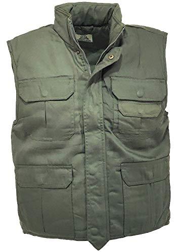 Chaleco acolchado de algodón, de caza, de invierno, para hombre y mujer, chaleco de camuflaje, verde, L
