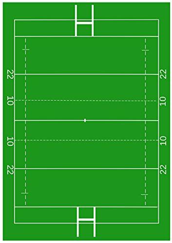 1x A4Gedruckt Rugby Pitch Tapete Decor Zuckerguss Blatt essbar Cake Topper verziert Blatt–Ideal für große Kuchen zu schaffen eine Rugby Szene