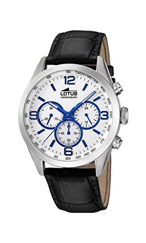 Lotus Watches Reloj Cronógrafo para Hombre de Cuarzo con Correa en Cuero 18155/3