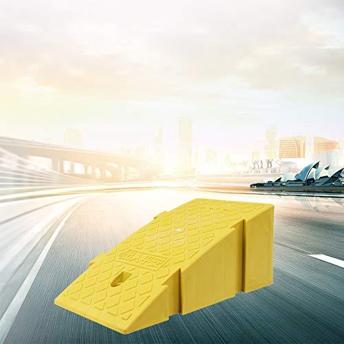 XIQIN Rampa De Bordillo, Coche Carril El Plastico Contiene Rampa Usado para Muelle De Carga Garaje Acera (Color : Yellow, Size : 25x40x16cm)