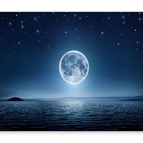 murando Papier peint intissé 300x210 cm Décoration Murale XXL Poster Tableaux Muraux Tapisserie Photo Trompe l'oeil Etoiles Mer Lune Nuit Lune ciel c-A-0036-a-a