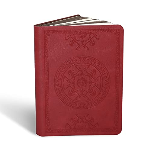 """ELEPHTREE PU Leather Journal Notebook, Premium Thick Lined Paper Dairy Writing Journal, Hard Cover, Pocket Size 5.7"""" x 4"""" (Red)"""