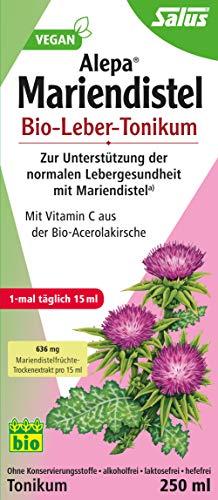 Salus Alepa Mariendistel Bio-Leber-Tonikum – zur Unterstützung der normalen Lebergesundheit mit Mariendistel – vegan – 500 ml