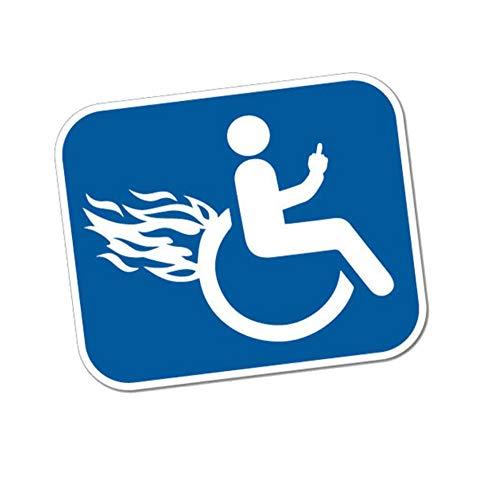 Wandtattoos Wandbilderspaß Behinderte Wütend Rollstuhl Aufkleber Logo Pvc Motorrad Fahrzeug Stoßstange Fenster Dekoration Applique Zubehör Auto Aufkleber 12.7 Cm X 10.4 Cm
