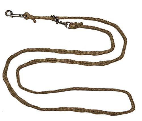 Joggingleine Hundeleine für kleine / mitterle / große Hunde Fahrradleine / Walkingleine / Übungsleine / Trainingsleine / Fürhleine / Freihandleine (3,50m, Beige 14mm für große Hunde)