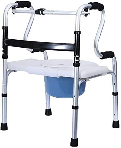 Rollator Walker Medical Walker para personas mayores y adultos Silla de baño de ducha con olla para personas mayores Plegable Rollator Walker con 2 ruedas caminando caminando silla de transporte