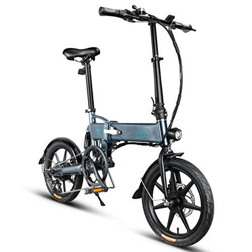 FIIDO D2S Bici elettrica Pieghevole 250W Motore 6 velocità deragliatore Display 3 modalità Mountain Bike E-Bike Bicicletta elettrica per Adulti Adolescenti 36V 7,8 Ah 25 km/h (nero)