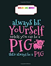 Coloring Book: pig pigsty farm farmer butcher pork meat cute gift vintage - 26 pages, 8.5 x11 inches