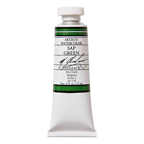 M. Graham 1/2-Ounce Tube Watercolor Paint, Sap Green