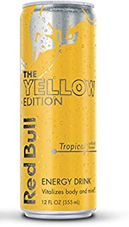 Red Bull the Yellow Edition - Tropical - 12fl.oz. (Pack of 8)
