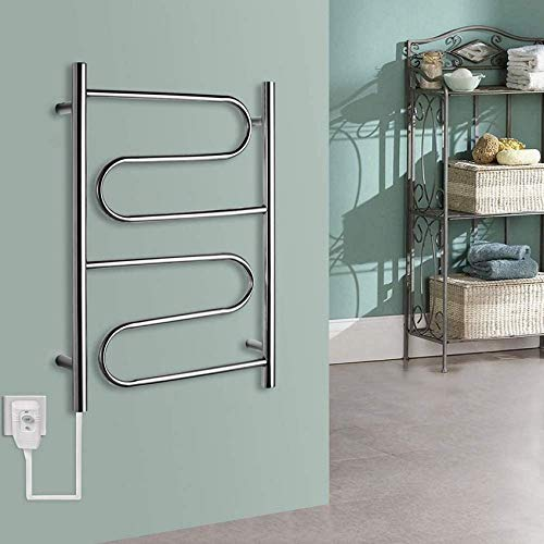 N/Z Home Furnishings 304 Stainless Steel Towel Warmer Rack Wall Mounted Heated Towel Rack Electric Drying Intelligent Constant Temperature Suitable for Families Hotel hiddenline