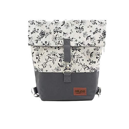 millybo Sweet Fahrradtasche Gepäckträgertasche Damen Rucksack Backpack (960.007 Graphite-Grey)