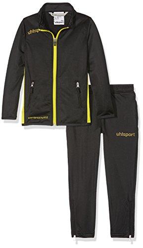 uhlsport Herren Essential Classic Anzug Trainingsanzug, schwarz/limonengelb, 2XL