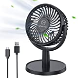 Mini Desk Fan, USB Powered Desktop...